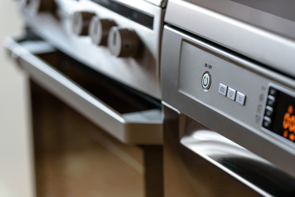 dishwasher and oven
