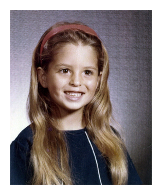 old photo of liz as a child