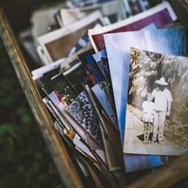 box of photos to organize