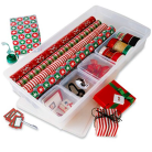 holiday wrapping paper organization