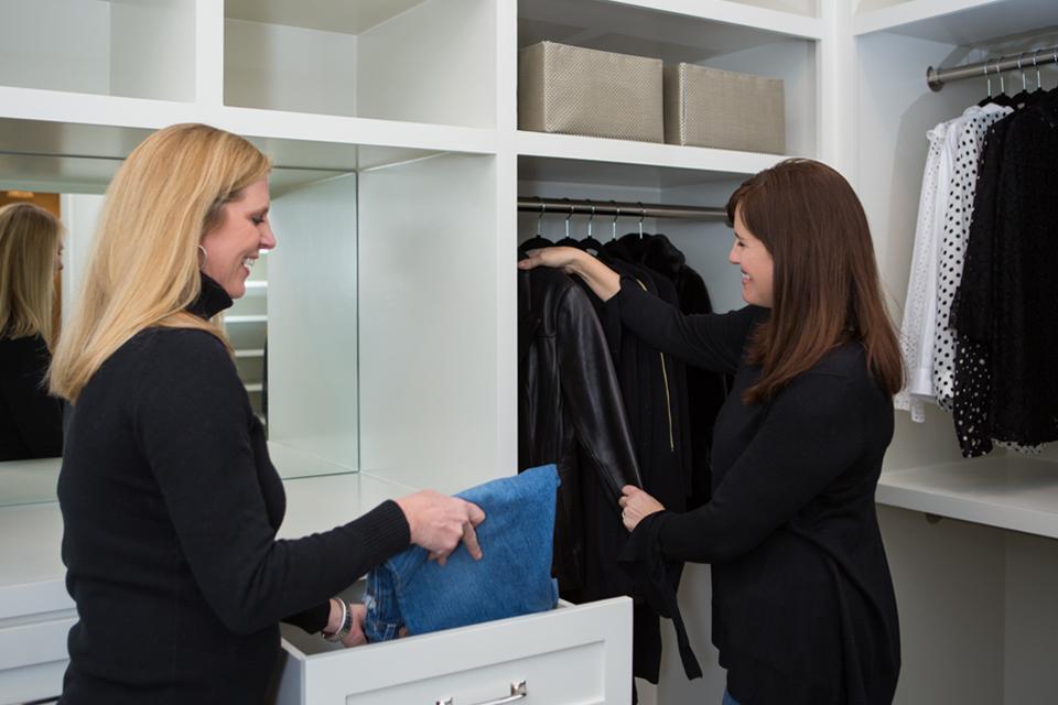 professional organizers refreshing a closet