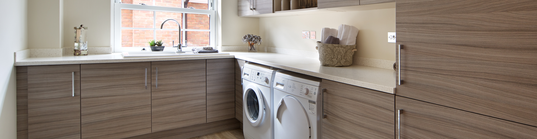clean organized laundry room