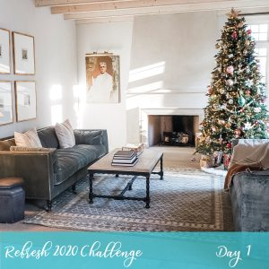 Holiday Decor Organization During our Refresh 2020 5 Day Challenge