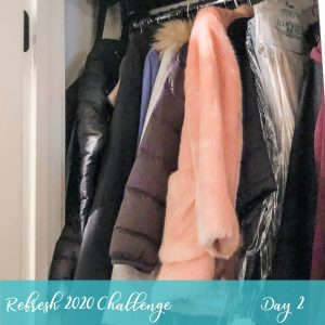 Coat Closet Organization During our Refresh 2020 5 Day Challenge