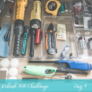 Junk Drawer Organization During our Refresh 2020 5 Day Challenge