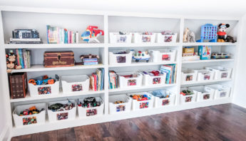 kids space organized with Montessori Method